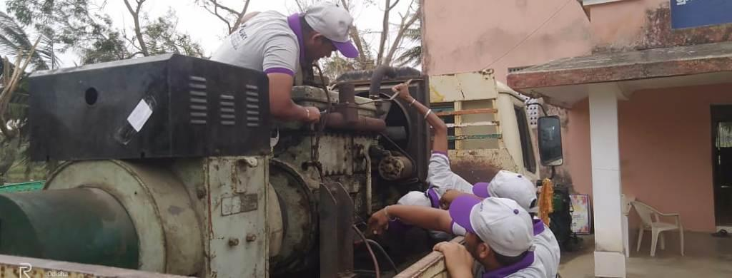 Students of DDU-GKY repairing the Gen Set at Fani